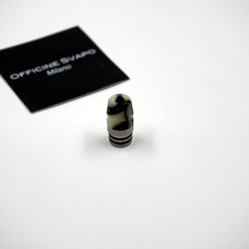 Drip Tip 510 metacrilato mod. Horse colore Avorio/Nero