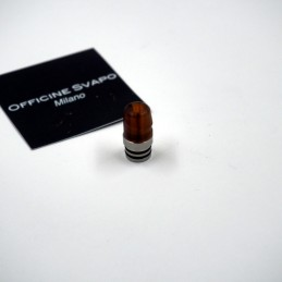 Drip Tip 510 metacrilato mod. Rook colore Ambra