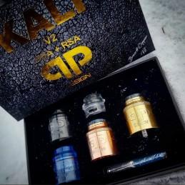 Atomizzatore QP Design Kali V2 RDA+RSA Brass Edition Master Kit