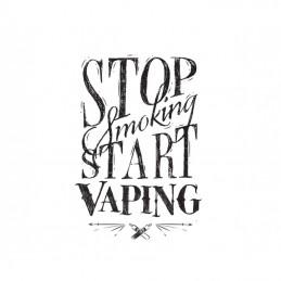 "Boccetta Chubby graduata da 120ml DIY'UP N.2 ""STOP SMOKING START VAPING"""