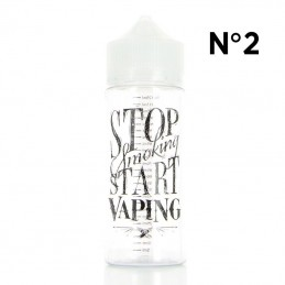 "Boccetta Chubby graduata da 120ml DIY'UP N.2 ""STOP SMOKING START VAPING"""