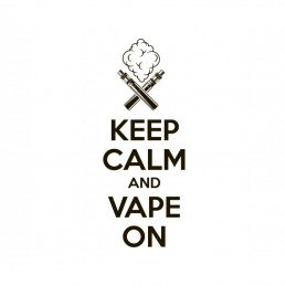 "Boccetta Chubby graduata da 180ml DIY'UP N.1 ""KEEP CALM AND VAPE ON"""