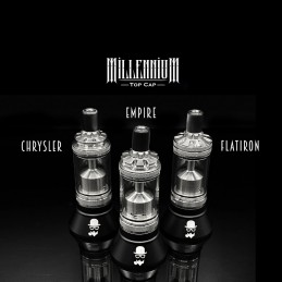 Top Cap alternativi per atomizzatore Millennium RTA The Vaping Gentlemen Club