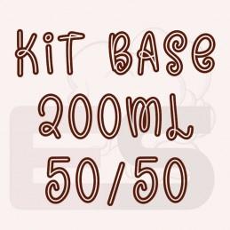 Kit 200ml base per sigaretta elettronica 50/50 con o senza nicotina