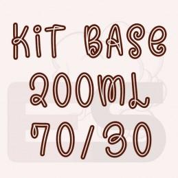 Kit 200ml base per sigaretta elettronica 70/30 con o senza nicotina