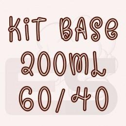 Kit 200ml base per sigaretta elettronica 60/40 con o senza nicotina