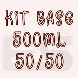 Kit 500ml base per sigaretta elettronica 50/50 con o senza nicotina