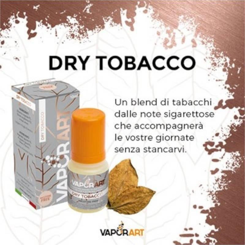 Vaporart Dry Tobacco - Liquido pronto 10ml per sigarette elettroniche