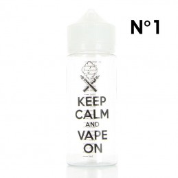 "Boccetta Chubby graduata da 120ml DIY'UP N.1 ""KEEP CALM AND VAPE ON"""