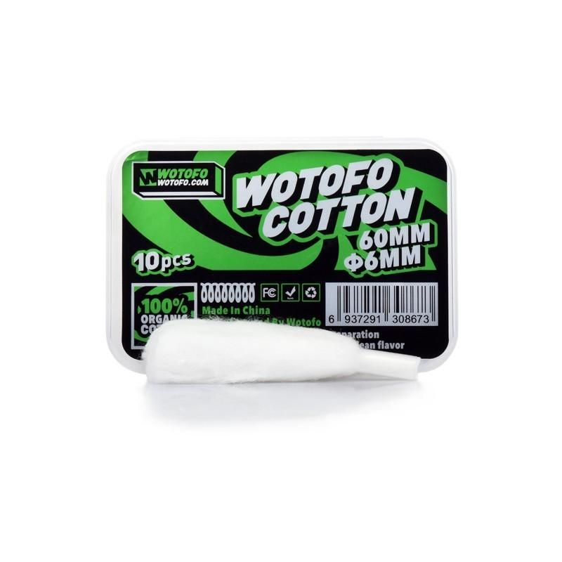 Cotone 100% organico pretagliato da 6mm per Profile Wotofo